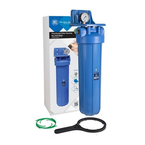 """Aquafilter Big Blue 20"""", carcasa de filtrare cu manometru si suport de fixare"""