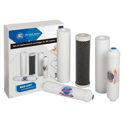 Set 5 filtre de schimb, Aquafilter RO6-CRT, pentru osmoza inversa cu mineralizare