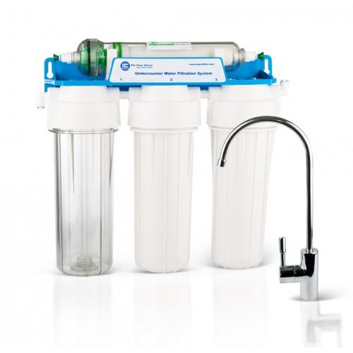 Aquafilter FP3-HJ-K1, sistem de ultrafiltrare economic, cu 3 prefiltre si o membrana de 0.02 microni