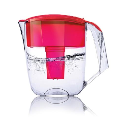 Cana de filtrare, Ecosoft MAXIMA 5L, rosie, cu ecomix, carbune activat si polipropilena