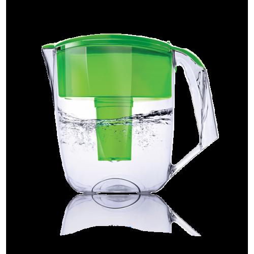 Cana de filtrare, Ecosoft MAXIMA 5L, verde, cu ecomix, carbune activat si polipropilena