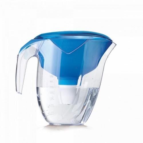 Cana de filtrare, Ecosoft NEMO 3L, albastra, cu ecomix, carbune activat si polipropilena