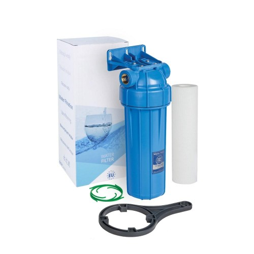 Carcasa completa pentru sedimente, AquaFilter FHPRN34-B1-AQ, cheie, suport, cartus si filet din alama