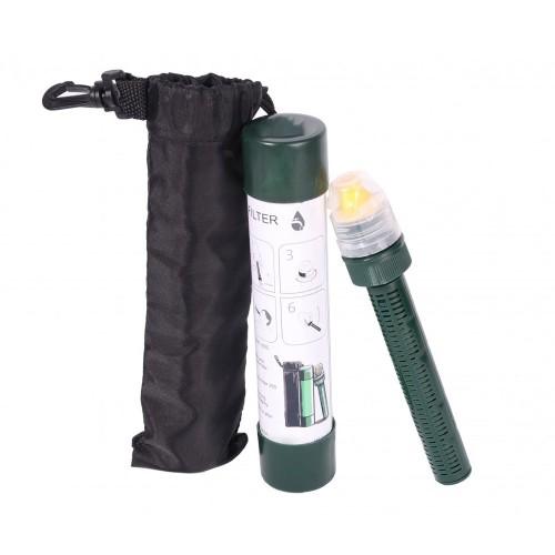 Cartus de filtrare portabil, compatibil cu sticlele de apa obisnuite, cutie si husa de transport incluse
