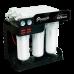 Ecosoft RObust 1000, osmoza inversa direct flow, cu debit de 60 litri pe ora, 3 membrane 100 GPD, pompa booster si manometre