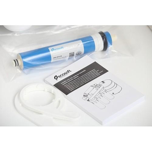 Osmoza inversa cu pompa, Ecosoft Standard MO650M1PSECOST, 6 stadii, pompa de presiune, cadru metalic, membrana de 50 GPD si remineralizare