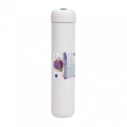 Filtru inline din carbune activat bloc, AquaFilter FCCBL-S-AQ, carcasa alba, 12