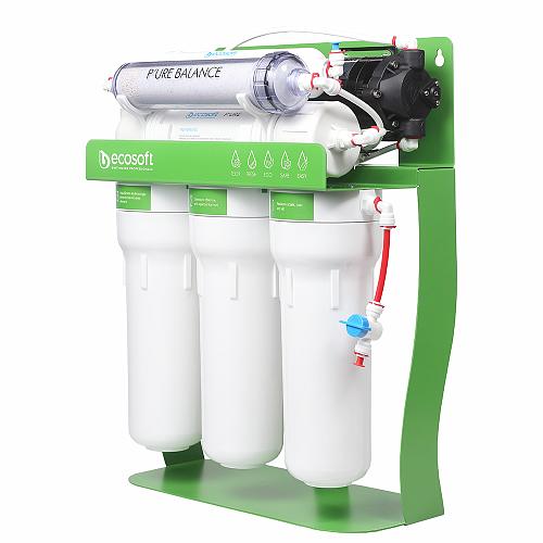 Osmoza inversa, Ecosoft PURE Balance, cu pompa de presiune si eficienta ridicata, 6 stadii, cadru metalic, remineralizare optima